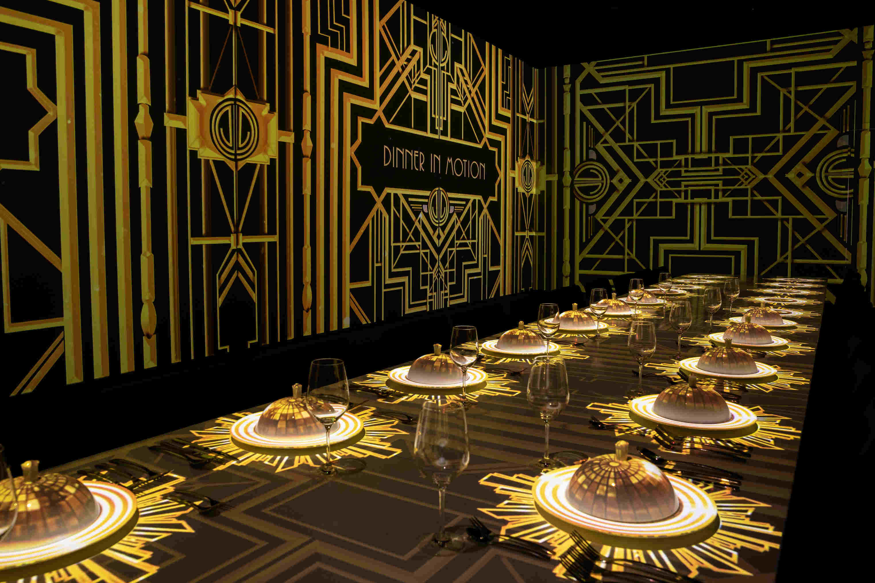dinner in motion gatsby art deco